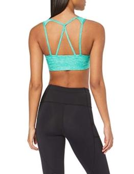 Amazon-Marke: AURIQUE Damen Sport-BH Low Impact Strappy, Grün (Emerald Marl), M, Label:M - 1